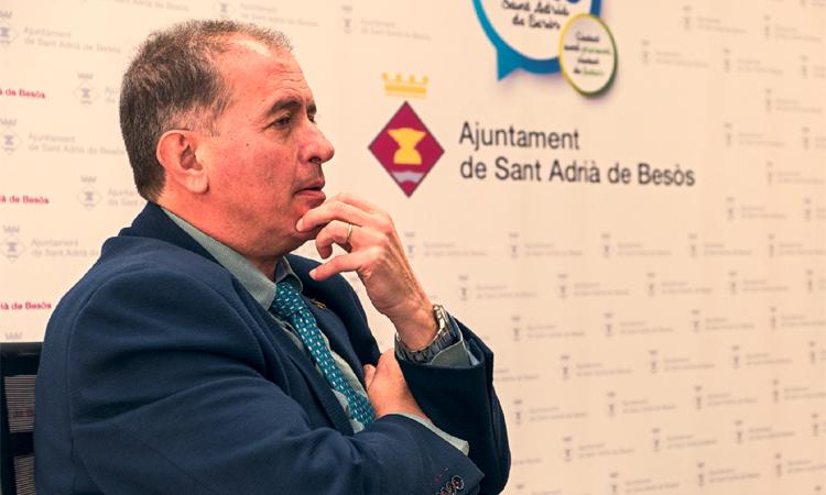 Joan Callau, alcalde de San Adrián