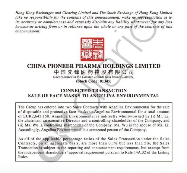 El Gobierno compra mascarillas a una 'offshore' china radicada en el paraíso fiscal de Islas Caimán