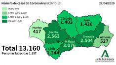 Casos de coronavirus en Andalucía.