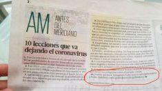 La pieza de 'Diario Libre' que se hace eco de la nefasta gestión del coronavirus del Gobierno de Pedro Sánchez en su punto 10.