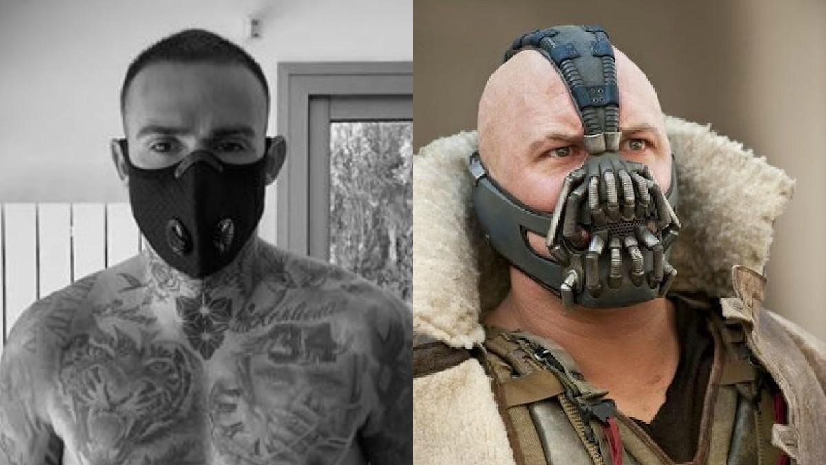 La mascarilla que utilizará el Levante a su regreso a los entrenamientos les da una apariencia similar a Bade, villano de Batman