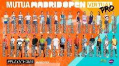 Los jugadores del Mutua Madrid Open Virtual