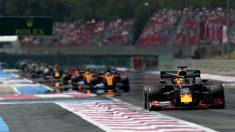 Verstappen lidera el tren en el GP de Francia. (Getty)