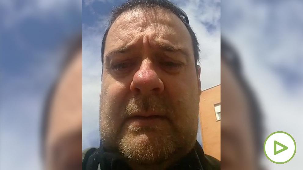 Javier García, hijo de una fallecida por Covid-19.