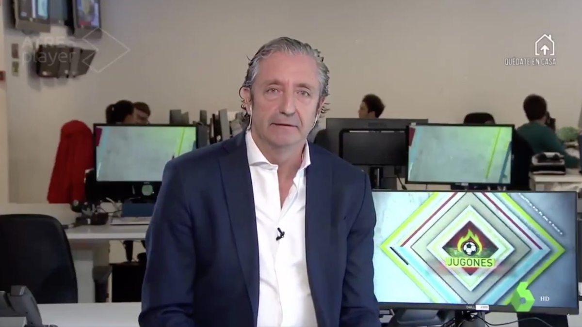 Josep Pedrerol se despidió de su amigo Michael Robinson entre lágrimas