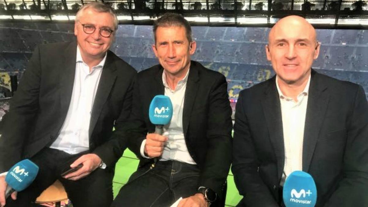 Robinson, Carlos Martínez y Maldini, durante una retransmisión.
