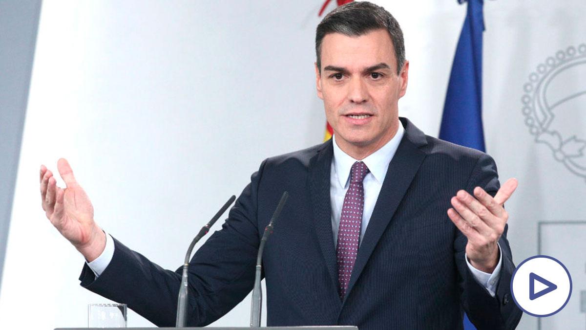 El presidente del Gobierno, Pedro Sánchez, en rueda de prensa tras la primera reunión del consejo de ministros del Gobierno de coalición de PSOE y Podemos. (Foto: Europa Press)