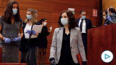 Isabel Díaz Ayuso en el Pleno de la Asamblea de Madrid. (Foto: Pool EFE)