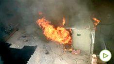 Incendio en la calle Mantuano.