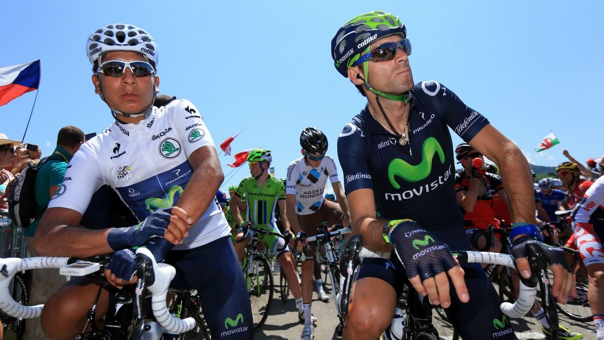 Nairo Quintana y Alejandro Valverde.