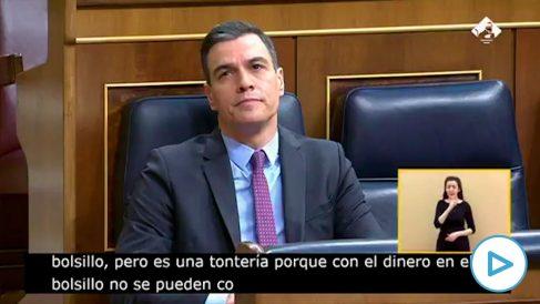 Pedro Sánchez e Íñigo Errejón este miércoles en la sesión de control al Gobierno en el Congreso.