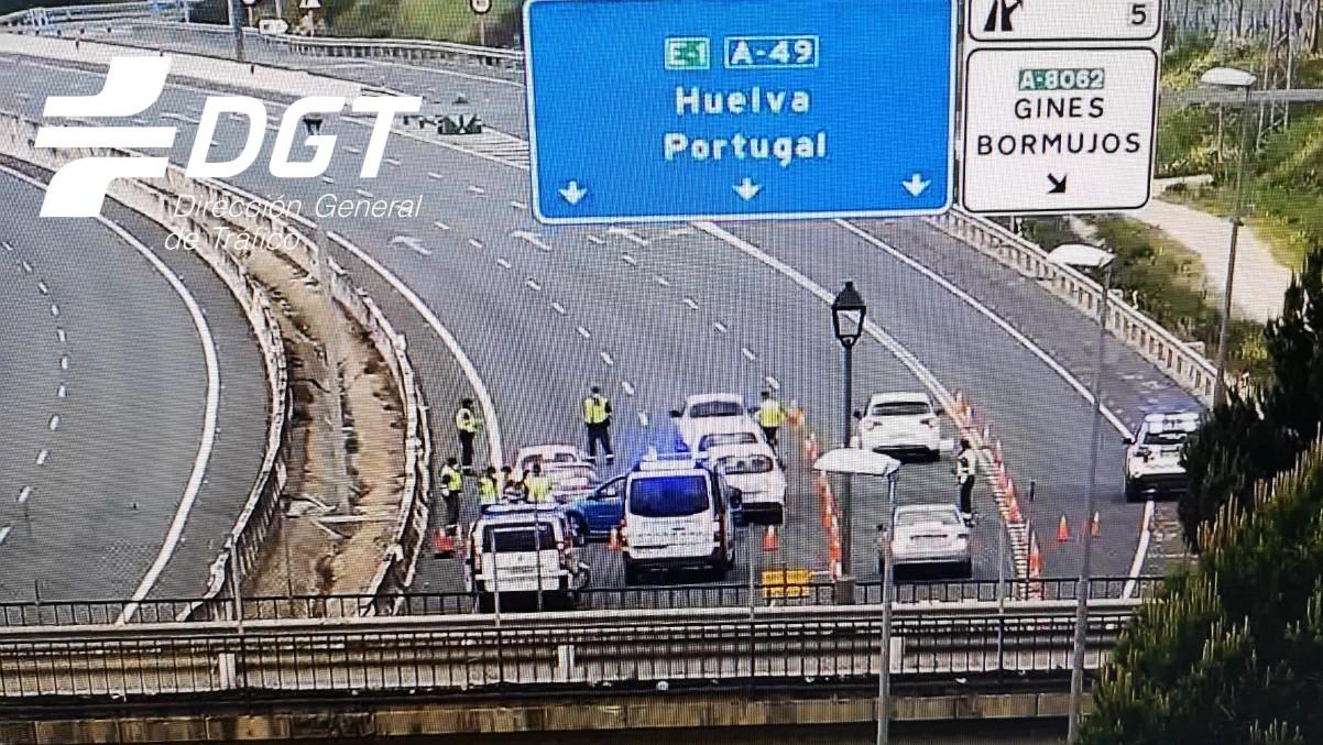 Control de la DGT para evitar desplazamientos a segundas residencias durante el confinamiento – Subdelegación del Gobierno en Sevilla