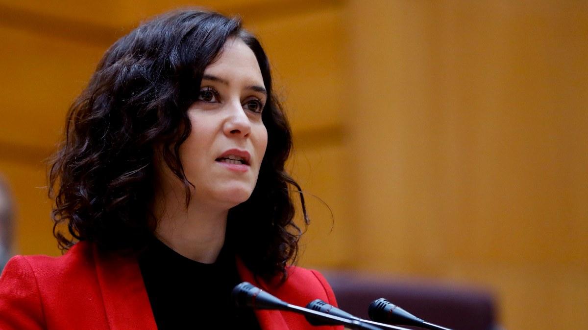 Isabel Díaz Ayuso comparece en el Senado. Foto: EFE