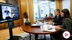 Fernando Alonso, Pau Gasol y Rafa Nadal mantuvieron una reunión telemática con los Reyes Felipe y Letizia. (casareal.es)
