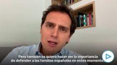 Mensaje del ex presidente de Ciudadanos Albert Rivera en la Asamblea General telemática del partido.
