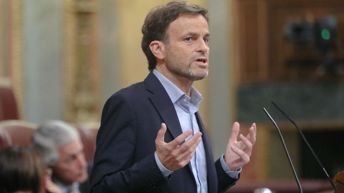 El portavoz parlamentario de En Comú Podem, Jaume Asens, durante una intervención en el Congreso. (Foto: Europa Press)