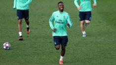 Vinicius, en un entrenamiento del Real Madrid. (Getty)