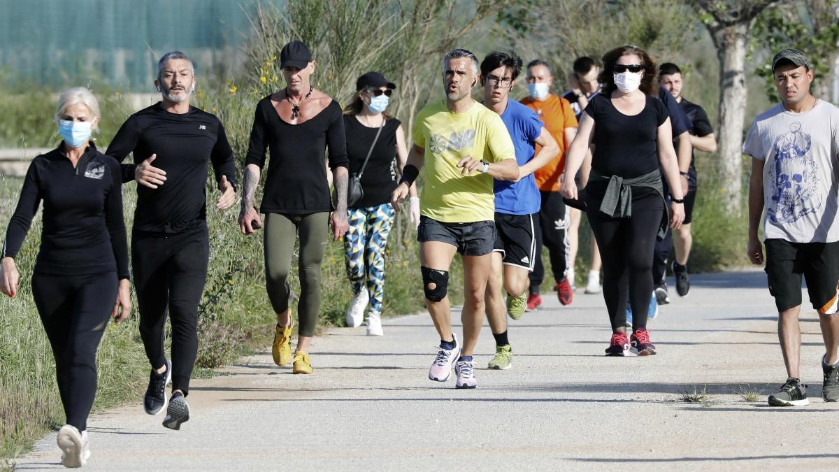 Varios corredores, este sábado (EFE).