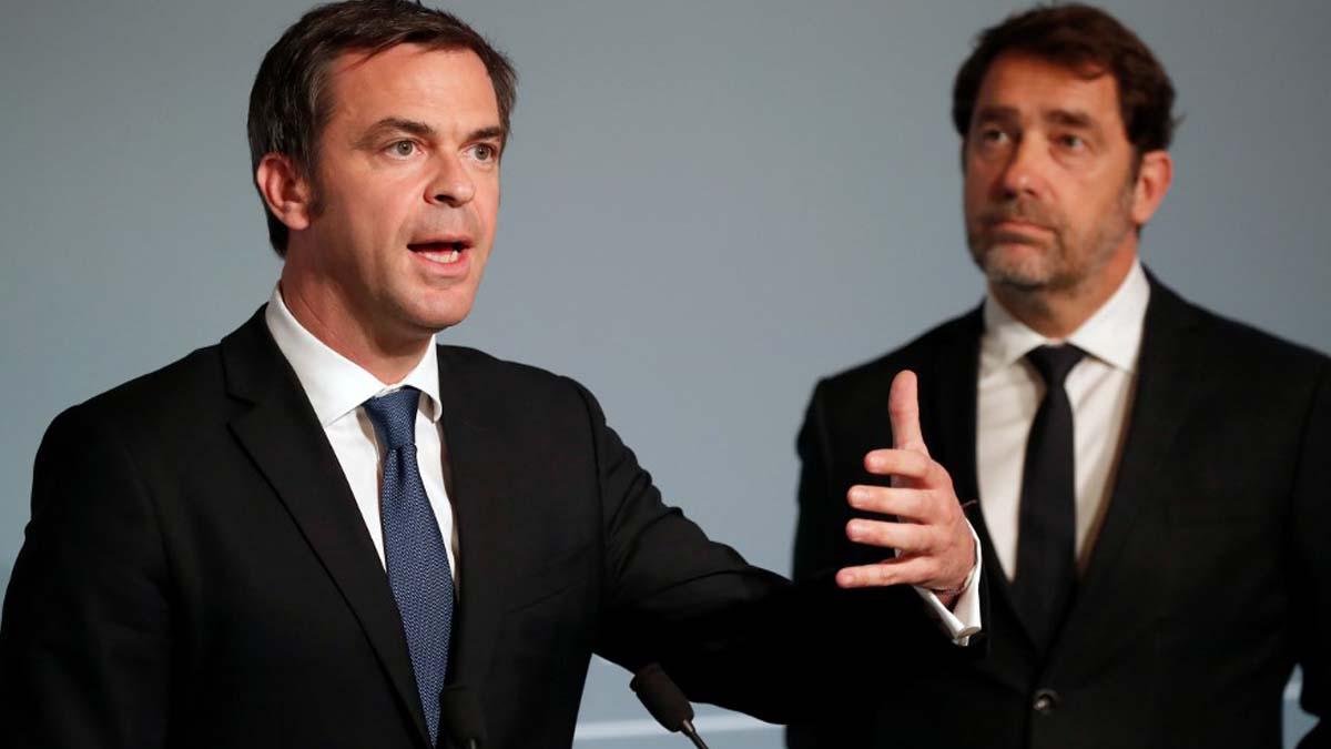 El ministro de Sanidad francés, Olivier Véran, en una comparecencia para informar sobre las medidas contra el coronavirus. Foto: AFP