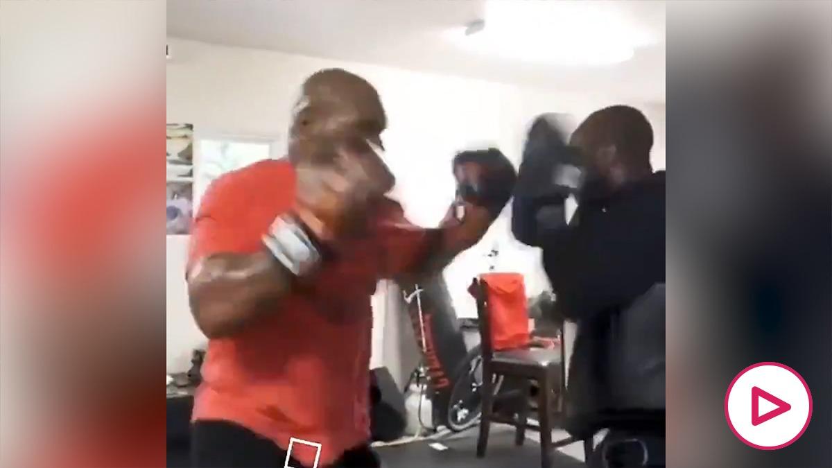 Mike Tyson se entrena para volver a boxear. (Instagram)