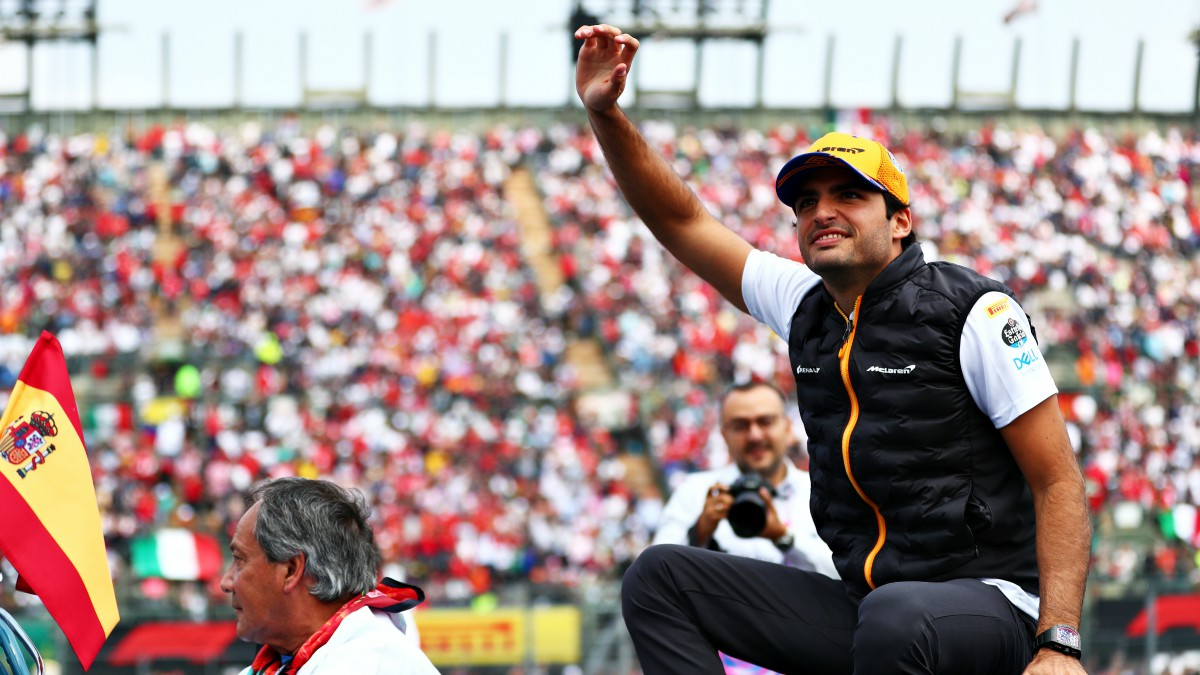 Carlos Sainz, en un Gran Premio. (Getty)