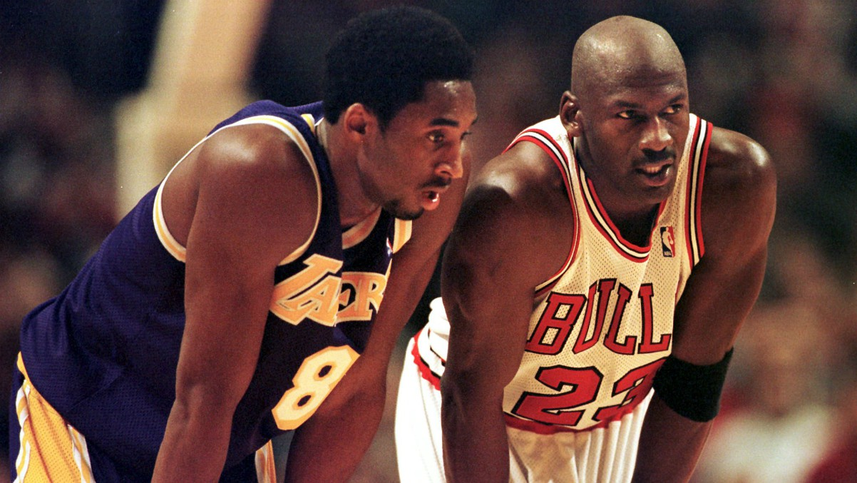 Kobe Bryant, junto a Michael Jordan.