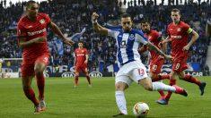 Alex Telles, durante un partido del Oporto (Getty).