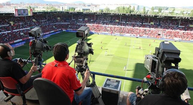 Retransmisión de un partido de futbol