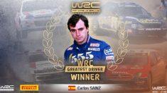 Carlos Sainz ganó la votación al mejor piloto de la historia del Mundial de Rallies. (wrc.com)