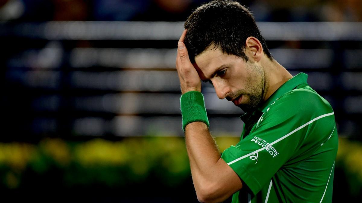 Djokovic, durante un partido. (AFP)