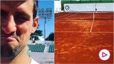 Djokovic subió el vídeo entrenándose en Marbella.