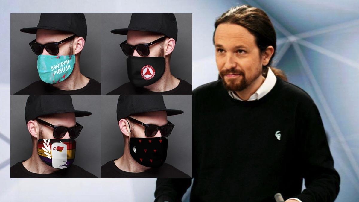 Iglesias usa la Moncloa para publicitar las mascarillas de la marca de su dircom