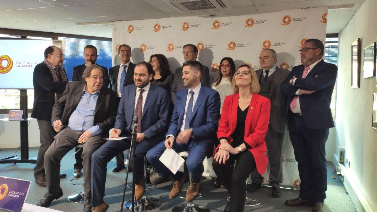 Imagen del consejo asesor de Sociedad Civil Catalana (SCC). (Foto: Europa Press)