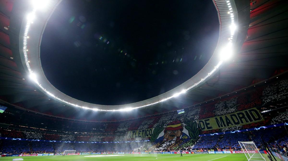 El Wanda Metropolitano, en un partido. (Getty)