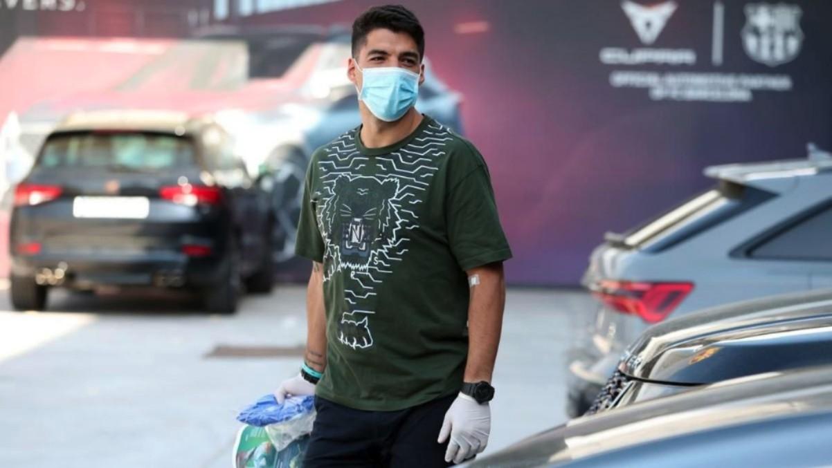 Luis Suárez, en la imagen de su reaparición.