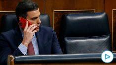 Pedro Sánchez, en el Congreso. (EFE/Ballesteros POOL)