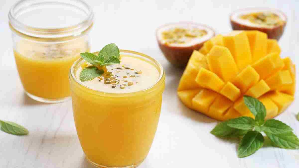 Receta de batido de mango, piña y menta