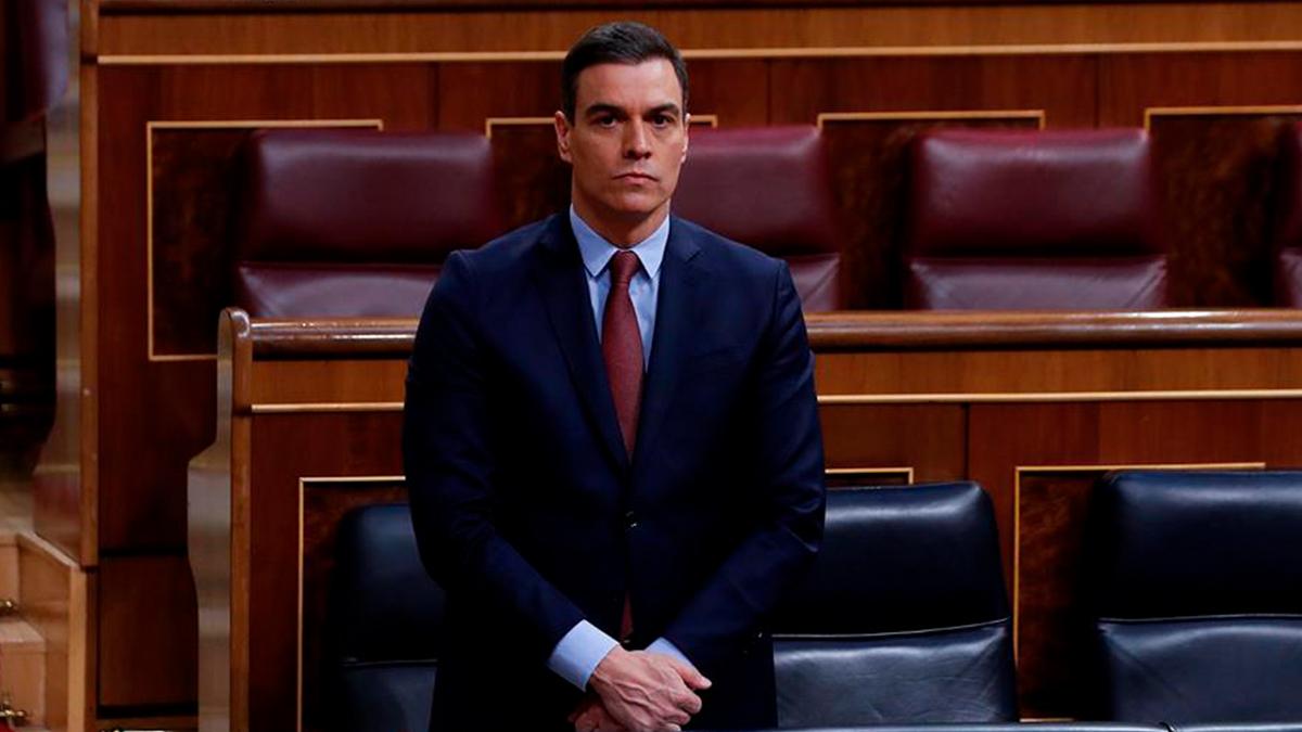 El presidente del Gobierno, Pedro Sánchez, en el Congreso. EFE/J.J. Guillén