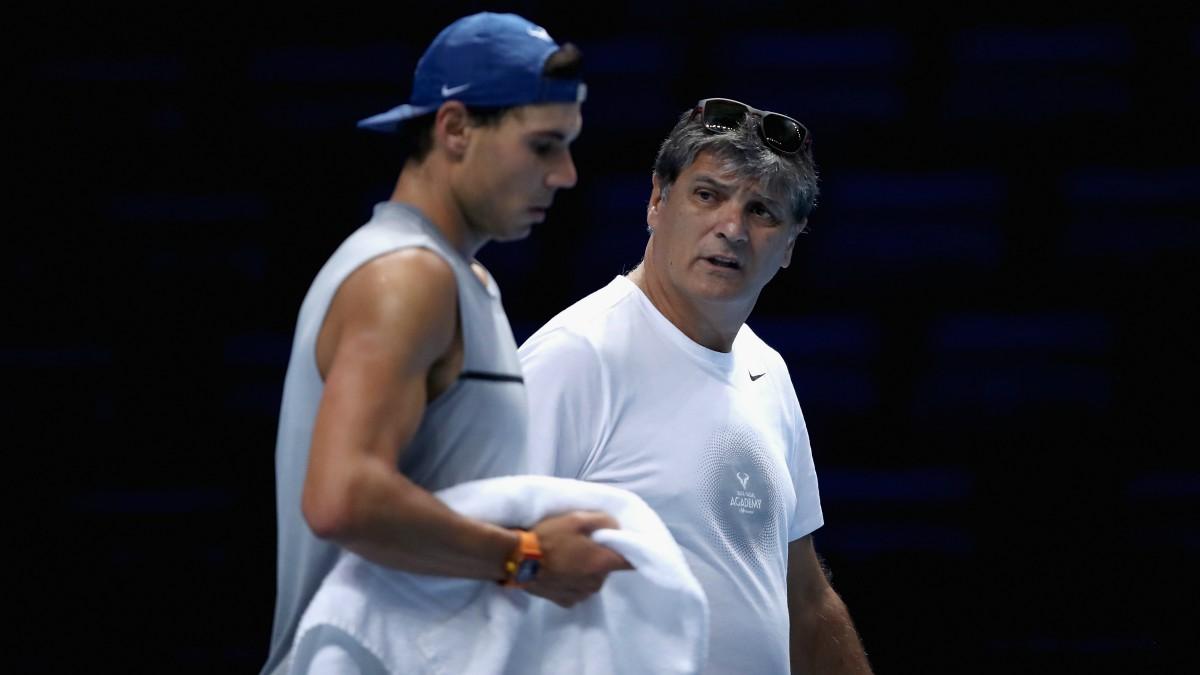 Toni y Rafa Nadal. (Getty)