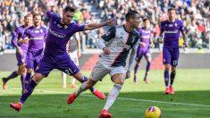 Cristiano Ronaldo, en un partido ante la Fiorentina (AFP).