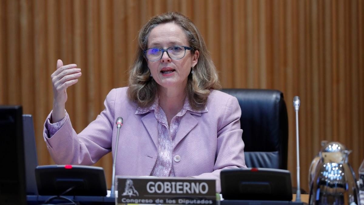 Nadia Calviño, vicepresidenta de Asuntos Económicos, en el Congreso.