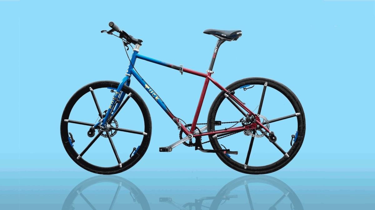 Una bici plegable te permitirá guardarla en cualquier rincón