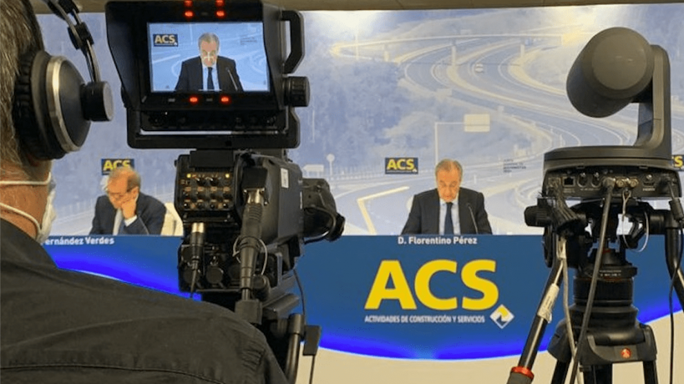 Florentino Pérez en la Junta General de Accionistas de ACS @ACS