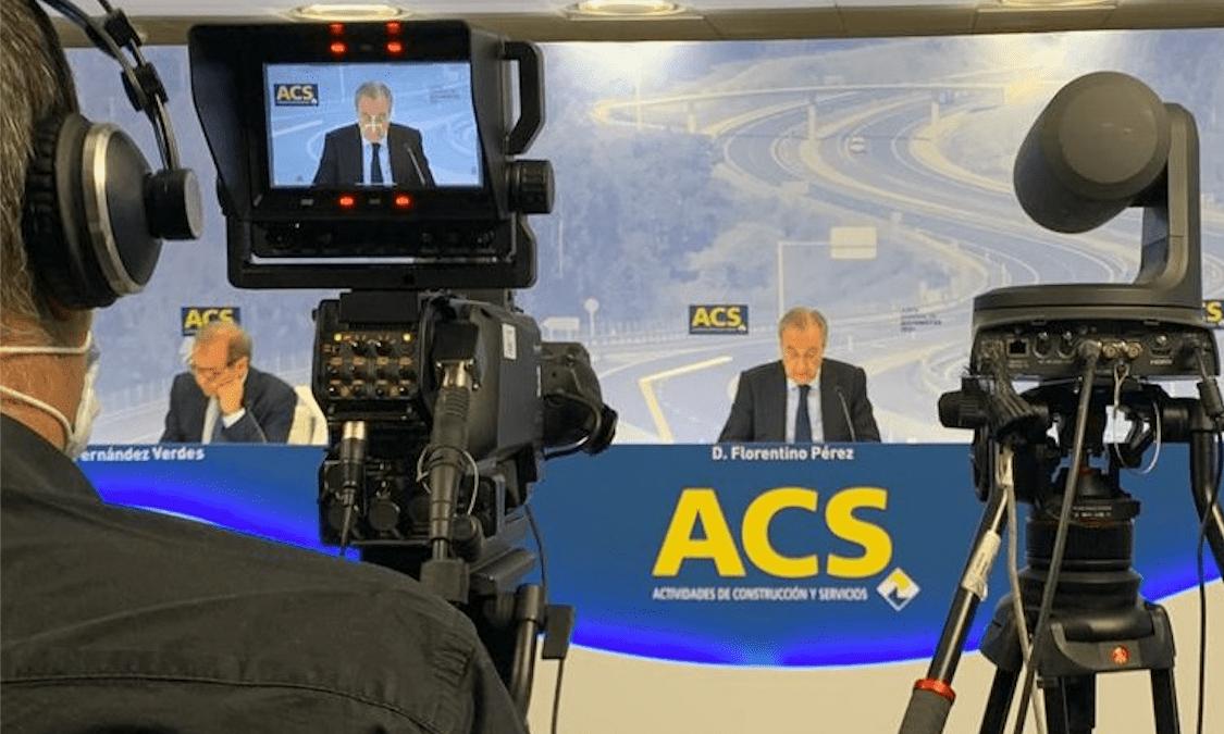 Florentino Pérez en una Junta General de Accionistas de ACS @ACS