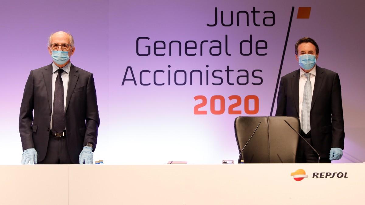Antonio Brufau, presidente de Repsol, y Josu Jon Imaz, consejero delegado.