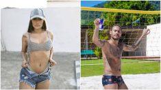 Neymar y Flayslane, que asegura que estuvo con él en 2016.