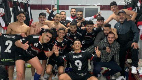 Los jugadores de la AUGC Deportiva Ceuta.