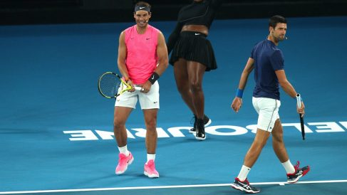 Nadal y Djokovic en el Open de Australia. (Getty)