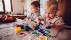 Distintas técnicas de pintura para que los niños no usen el pincel