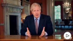 El primer ministro británico, Boris Johnson, en un mensaje a la nación televisado – Downing Street Pool/PA Wire/dpa
